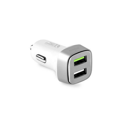 Puro Mini Car Charger Compact 2 USB [2.4 Amp] - white
