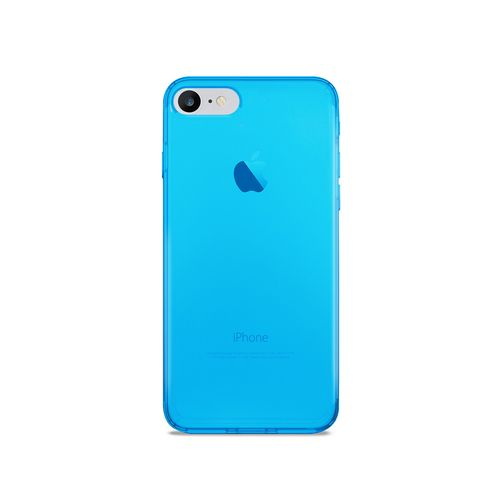 Puro 0.3 Nude Cover - iPhone 7/8 (4.7 Screen) - fluo blue
