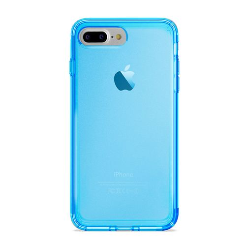 Puro 0.3 Nude Cover - iPhone 7 Plus /8 Plus (5.5 Screen) - fluo blue