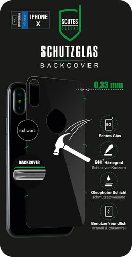 Scutes Glass Screen back Protector - iPhone X