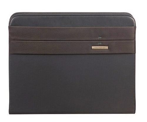 Stationery Spectr 2 Zip Folder A4 Top H + DET Binder - black