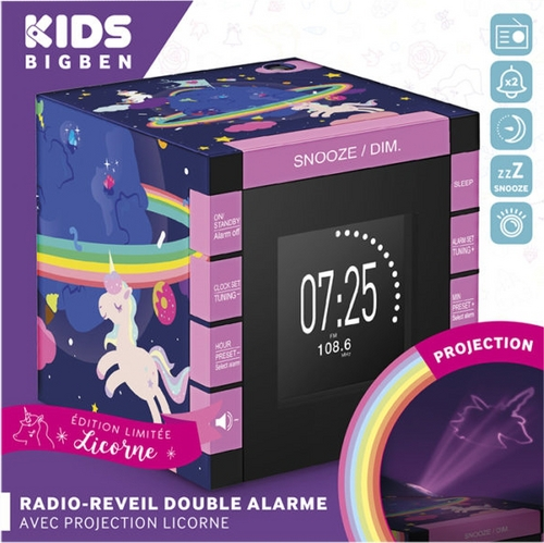 Bigben - Radiowecker RR70 - Unicorn [incl. projector]