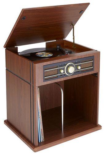 Bigben - Plattenspieler TD104 mit Schallplattenfach