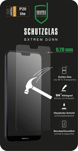 Scutes Glass Screen Protector - Huawei P20 Lite