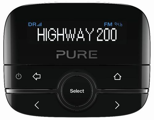 Pure Highway 200 Car DAB + Adapter - black