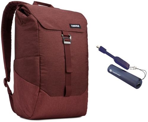Thule Lithos Backpack [15 inch] 16L Bundle - dark burgundy
