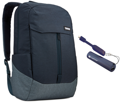Thule Lithos Backpack [15 inch] 20L Bundle - carbon blue