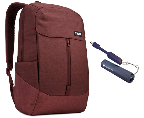 Thule Lithos Backpack [15 inch] 20L Bundle - dark burgundy