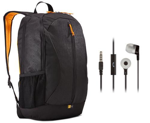 Case Logic Ibira Tablet/Notebook Daypack [15.6 inch] 24L Bundle - black