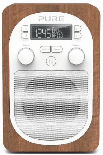Pure Evoke H2 FM/DAB+ Radio - walnut