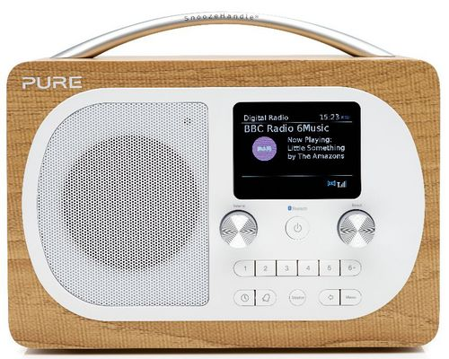 Pure Evoke H4 FM/DAB+/BT Clock Radio - oak