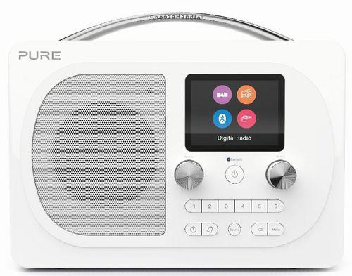 Pure Evoke H4 FM/DAB+/BT Clock Radio - white