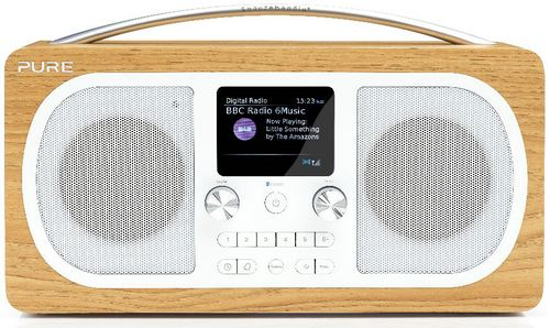 Pure Evoke H6 FM/DAB+/BT Clock Radio - oak