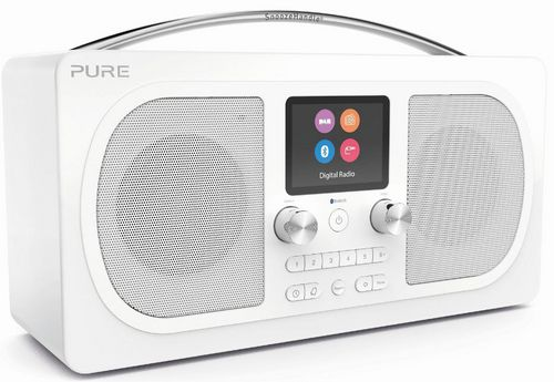 Pure Evoke H6 FM/DAB+/BT Clock Radio - white