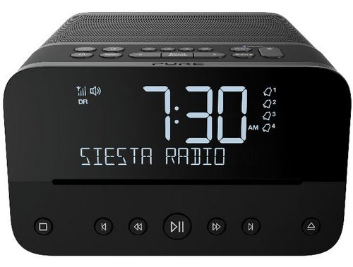 Pure Siesta Home FM/DAB+/BT Radio and CD Player - graphite