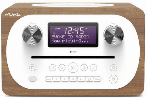 Pure Evoke C-D4 FM/DAB+/BT/AUX Radio and CD Player - walnut