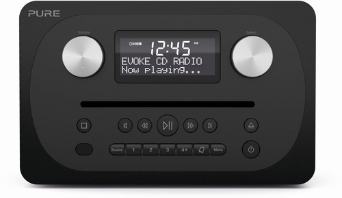 Pure Evoke C-D4 FM/DAB+/BT/AUX Radio and CD Player - siena black