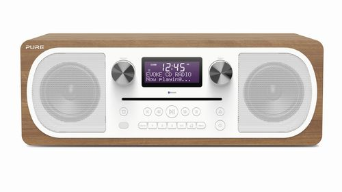 Pure Evoke C-D6 FM/DAB+/BT/AUX Radio and CD Player - walnut