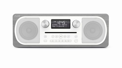 Pure Evoke C-D6 FM/DAB+/BT/AUX Radio and CD Player - grey oak