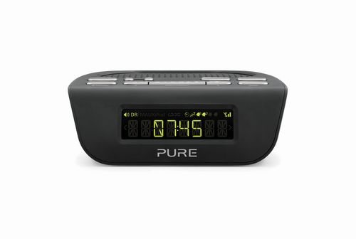 Pure Siesta Mi Series 2 FM/DAB+ Clock Radio - black