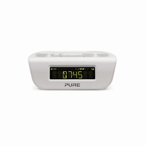 Pure Siesta Mi Series 2 FM/DAB+ Clock Radio - white