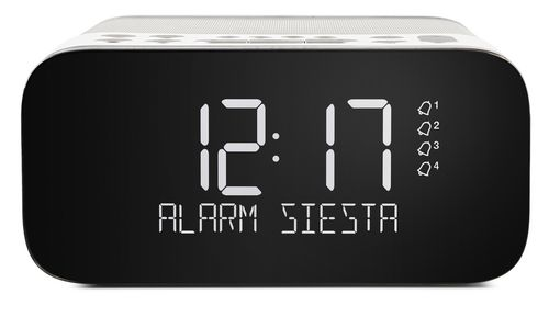 Pure Siesta S6 FM/DAB+ Clock Radio - polar white