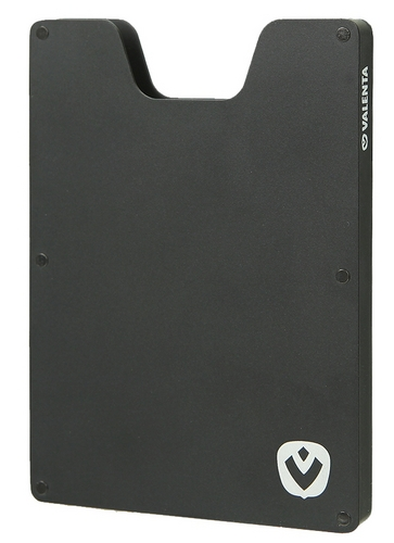 Valenta Aluminium Card Case - black