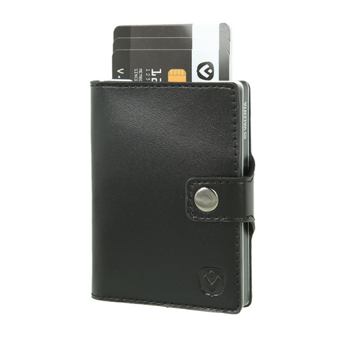 Valenta Wallet Card Case - black/ silver