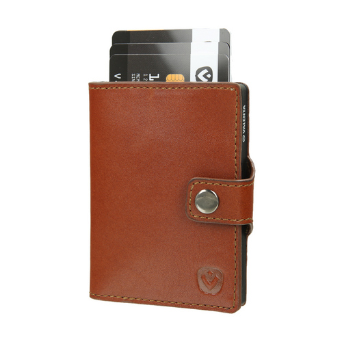 Valenta Wallet Card Case - cognac brown