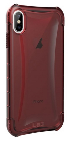 UAG Plyo Case - iPhone XS Max (6.5 Screen) - crimson (transparent)