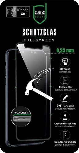 Scutes 3D Glass Screen Protector - iPhone XR - black