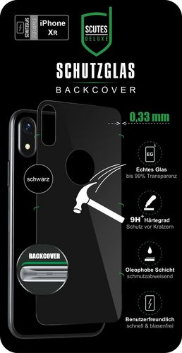 Scutes 3D Glass Screen Protector - iPhone XR - black behind