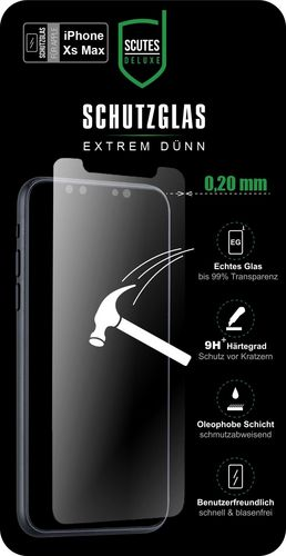 Scutes Glass Screen Protector - iPhone XS Max