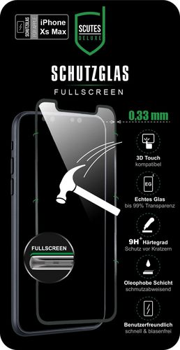 Scutes 3D Glass Screen Protector - iPhone XS Max - black
