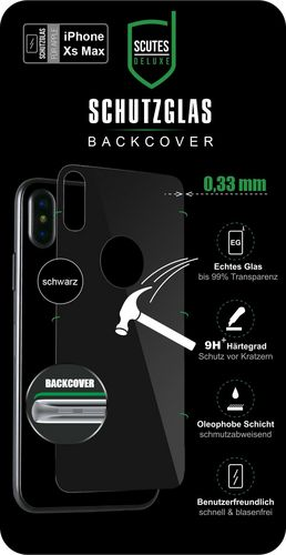 Scutes 3D Glass Screen Protector - iPhone XS Max - black behind