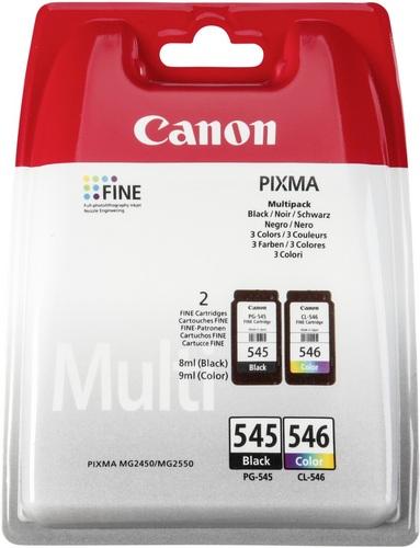 Canon PG-545 & CL-546CO, Multipack, Cartuccia d'inchiostro nero & colori