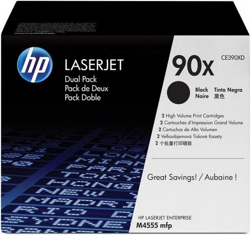 HP CE390XD, Toner schwarz, Doppelpack, 2x 24'000 Seiten