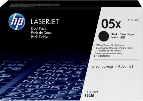 HP CE505XD, Toner schwarz, Doppelpack, 2x 6'500s