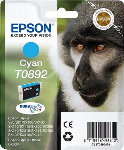 Epson T0892, Cartuccia d'inchiostro cyan, 3.5ml