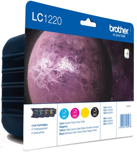 Brother LC1220VALBP, TPA schwarz, cyan, magenta und yellow, Value Pack