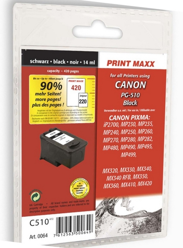 C510 Canon PG-510 schwarz kompatible Druckpatrone