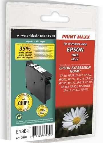 E18bk per Epson 18XL nero Cartuccia d'inchiostro compatibile