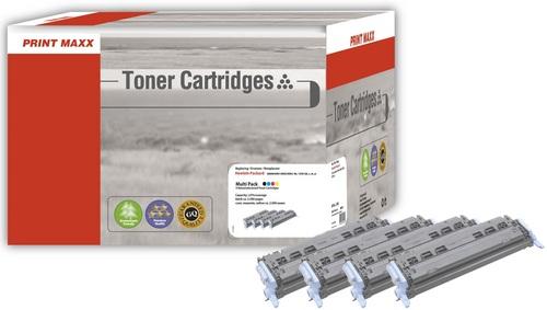 H124 pour HP 124A (Bk/C/M/Y) Multipack Toner compatible