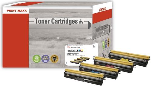 O4425 OKI 4425072 (Bk/C/M/Y) kompatibles Multipack