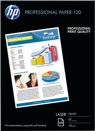 250 A4 Professional Laser Paper 120g/m2, glossy, beidseitig bedruckbar