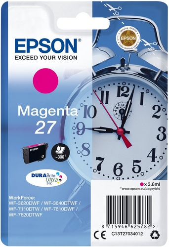 Epson 27, TPA magenta, 300 pages, 3.6ml