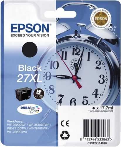 Epson 27XL, TPA nero, 1'100 pagine, 17.7ml