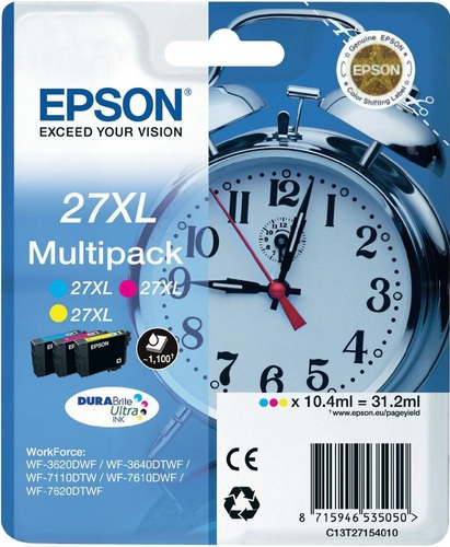 Epson 27XL Multipack, TPA cyan, magenta und yellow