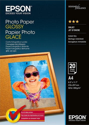 20 A4 Photo Paper 200g/m2, glossy