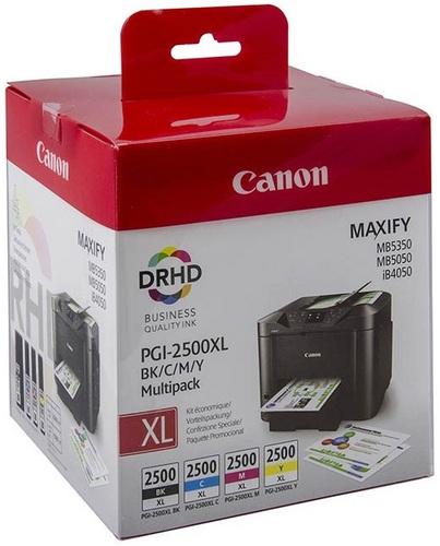 Canon PGI-2500XL Multipack, Cartucce d'inchiostro nero, cyan, magenta & giallo